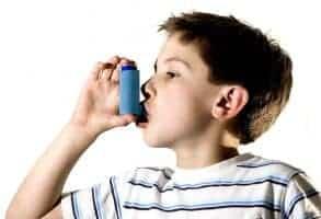 a boy with asthma