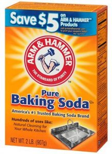 A box of Arm & Hammer Baking Soda