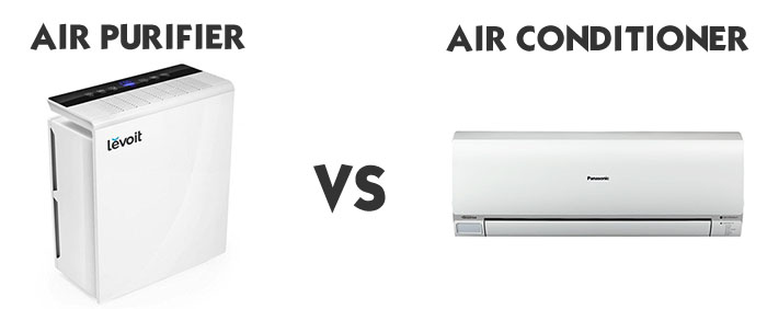 Comparing an air purifier to an air conditioner