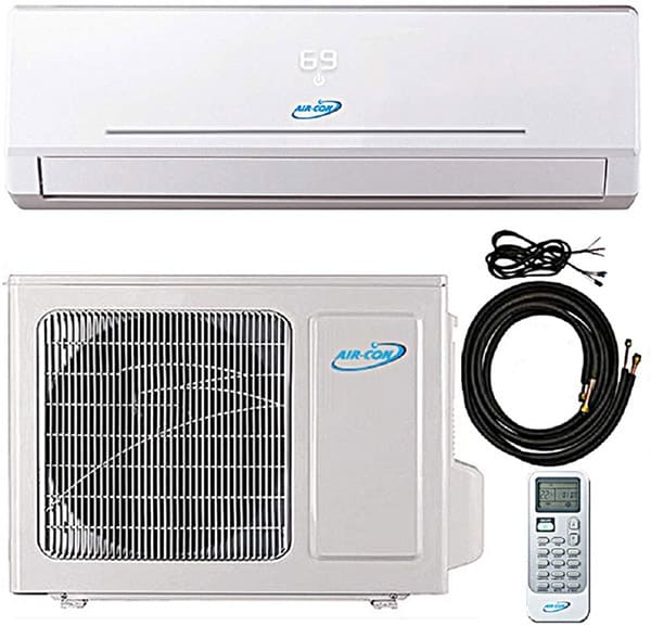 Air-con mini split with heat pump