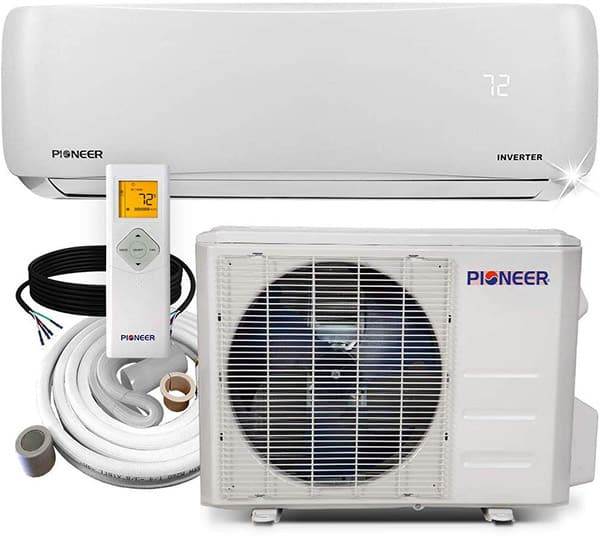 Pioneer mini split with a heat pump
