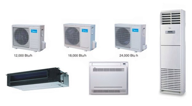 AC sizes and types