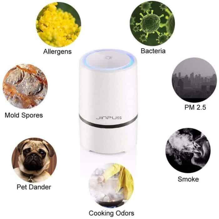 Jinpus air purifier filtration